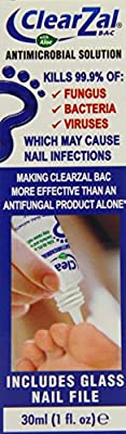 ClearZal BAC Antimicrobial Nail Solution 30ml Kills Fungus, Bacteria & Viruses
