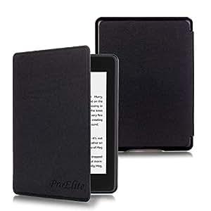 ProElite Ultra Slim Smart Flip case Cover for All New Amazon Kindle Paperwhite 10th Generation (Black)
