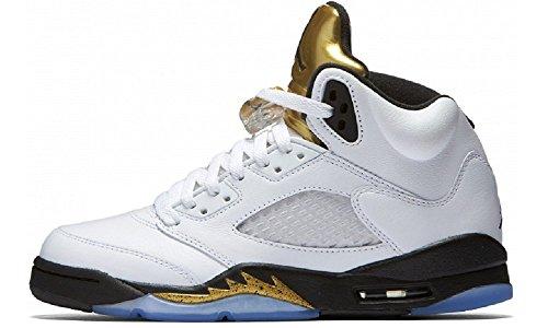 nike-herren-air-jordan-5-retro-bg-basketballschuhe-blanco-blanco-white-black-mtlc-gold-coin-385-eu