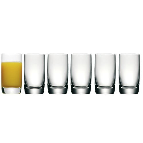 WMF 09.0735.9990 Easy Saftgläser Set, 6-teilig, 250 ml, Bierglas, Kristallglas, spülmaschinengeeignet, bruchsicher