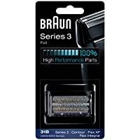 Braun - Láminas 31B - Láminas de recambio para afeitadoras Series 3/Contour Series/Flex XP II/Flex XP/Flex integral negra