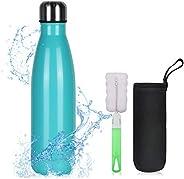 flintronic Botella Termica, 500ML Botella de Agua de Acero Inoxidable, Aislamiento de Vacío de Doble Pared, Bo