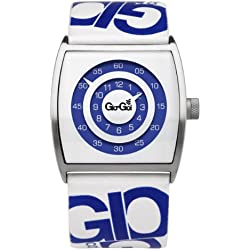 Gio-Goi Men's 'Dilated' Analogue Watch GG1006W With White Leather Strap
