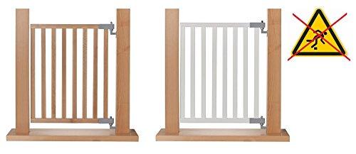 Impag® Treppenschutzgitter Absperrgitter Türschutzgitter Buche Massivholz 65 - 115 cm, Extrahoch 90 cm JW