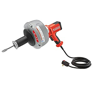 RIDGID 36043 K-45AF-5 Sink Machine with C-1 5/16 Inch Inner Core Cable and AUTOFEED Control, 230-Volt Sink Drain Cleaner Machine and Bulb Drain Auger