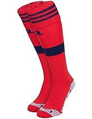 Adidas chaussettes de football/auswärts Olympique Lyonnais 1Paire Rouge Colred/Nindig