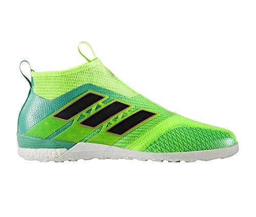 Adidas Ace Tango 17+ Pure Control - Chaussures de Foot en Salle - Vert Solaire/Noir/Vert Black