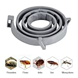 AUOKER Waterproof Adjustable Flea and Tick Collar for Dogs/Cats, Natural Essential Oils, Stops