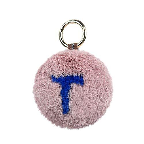 TianranRT♕ Herzanhänger Tasche,Neuer Süßer Schlüsselanhänger Liebesplüschball Mit Buchstabenanhänger Kreative Dekoration,Mehrfarbig -