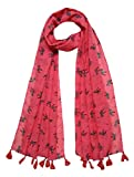 FusFus Women's Printed Poly Cotton Scarf and Stoles Combo of 3 (Multicolour,Free Size)
