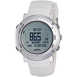 Suunto Core - Reloj de exterior para todas las altitudes, sumergible (30 m), con altímetro, barómetro y cristal de zafiro, Blanco / Plateado