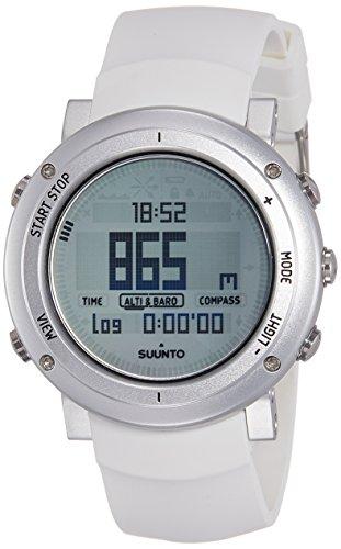 Suunto - Core Alu Pure White - SS018735000 - Reloj de exterior para todas las altitudes, sumergible (30 m), con altímetro, barómetro - Esfera de aluminio - Blanco