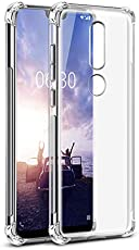 Tarkan Nokia 6.1 Plus Case - Shock Proof Protective Soft Transparent Back Cover for Nokia 6 Plus [Bumper Corners with Air Cushion Technology] Crystal Clear
