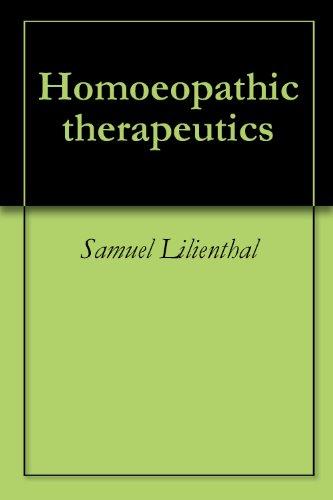 Homoeopathic Therapeutics Ebook