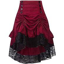 128eccc236 Kimikal Falda gótica Negra Steampunk con múltiples Capas ...