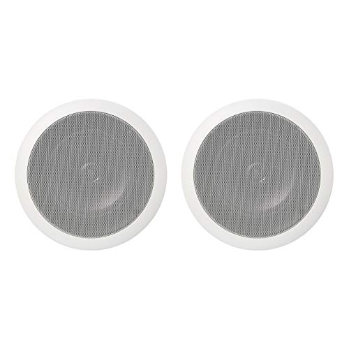 AmazonBasics - Altavoces redondos empotrables en pared o techo de 16,5 cm...