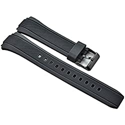 Casio EFA-131RBSP / EFA-131PB genuine replacement black resin band