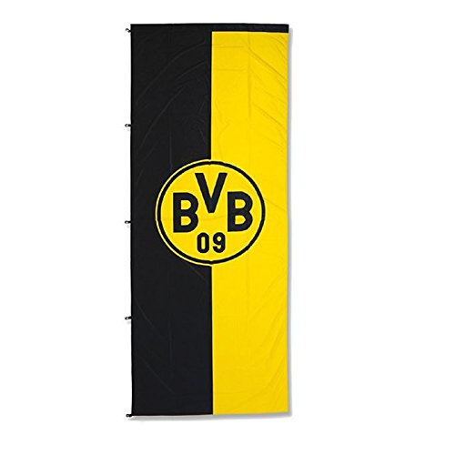 Borussia Dortmund BVB 10134300 Hissfahne 250x150cm mit Logo Schwarz//gelb 250 x 150 x 1 cm