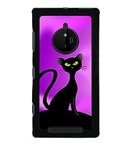 Black Cat 2D Hard Polycarbonate Designer Back Case Cover for Nokia Lumia 830 :: Nokia Lumia 830 RM-984