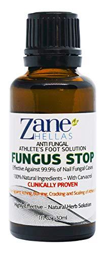 ZANE HELLAS Fungus Stop. Antifungini atleti piedi soluzione. KILL 99,9% del fungo. Allevia prurito, bruciore, Cracking, Scaling. 1 oz - 30 ml