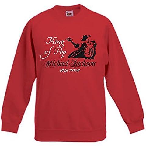 Art T-shirt, Felpa Raglan Michael Jackson Tribute, Bambino