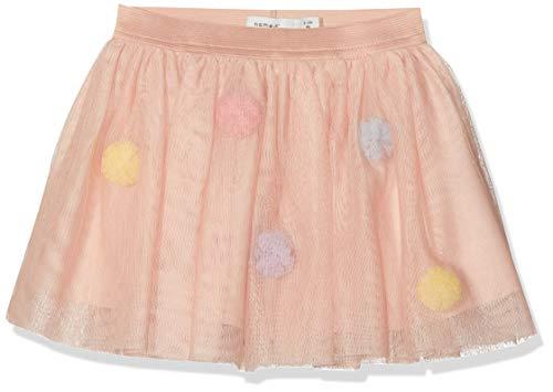 NAME IT Baby-Mädchen NMFPOPPI TULLE SKIRT LIC Rock, Rosa (Strawberry Cream), (Herstellergröße: 98)