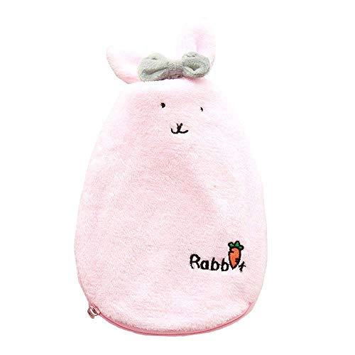 Preisvergleich Produktbild WESEEDOO Wärmflasche Warme Handtasche Handwärmer Winter Gummi Niedlichen Kaninchen-Förmigen Beheizten Pad Soft Cover Für Frau Kinder Familienliebhaber