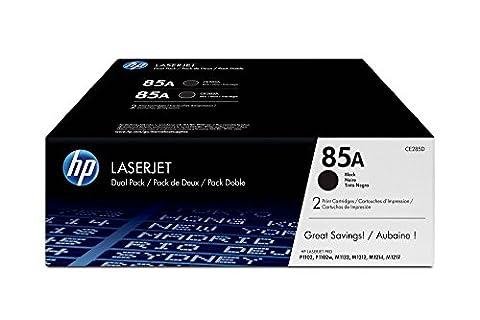 HP CE285AD 85A Black Original LaserJet Toner Cartridges - Pack