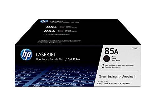 HP 85A 2er-Pack (CE285AD) Schwarz Original Toner für HP LaserJet Pro P1102,...