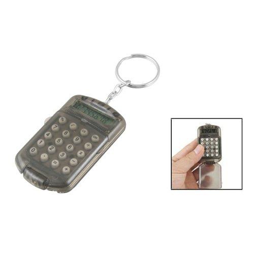 Mini calculatrice avec porte-cles - SODIAL(R) Gris boitier en plastique 8 digits Mini calculatrice electronique avec porte-cles