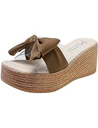 96a2f5314b376 WUDUBE Sandales d été Pantoufles Chaussures de Plage à Talons compensés et  ...