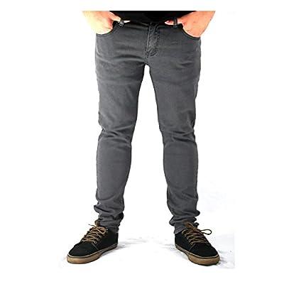 Kayden K Skinny Leg Twill Jeans Charcoal
