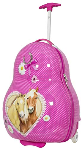 -Koffer Hartschale Pferde 54 Zentimeter 32 Liter 2 LED-Räder Handgepäck ()