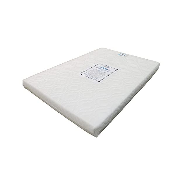 LAURA Extra Thick 95x65cm Travel Cot Mattress 7cm Thick So More Comfy : Reversible : BRITISH MADE With High Grade Density Foam CMHR28