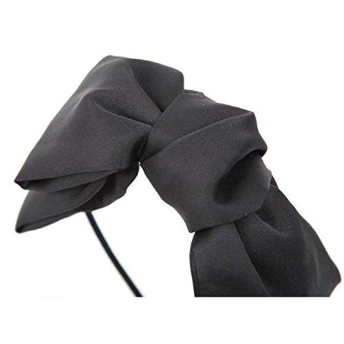 Sweet style coréen Lovely Fashion Big bowknot cheveux bande bandeau cheveux cerceau accessoire cheveux couleur Noir Bleu foncé Rose
