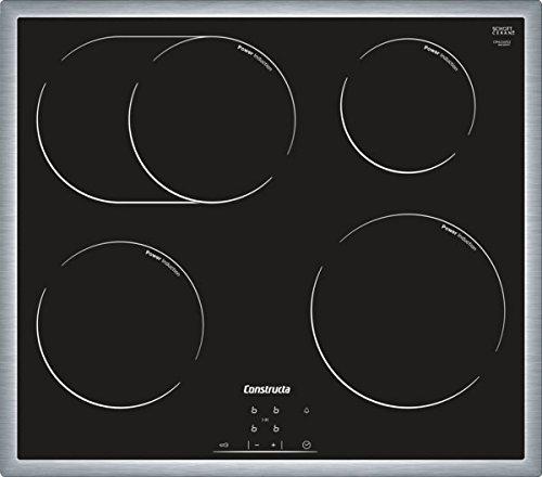 Constructa cm424053 Verre Céramique Plaque de cuisson/induction/Cadre en acier inoxydable/60 cm/4 zones
