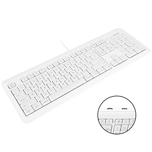 Macally Tastatur für Apple Mac/iMac/Desktop/Mac Mini, USB, kabelgebunden, Schwarz weiß - Mini-usb-desktop-tastatur