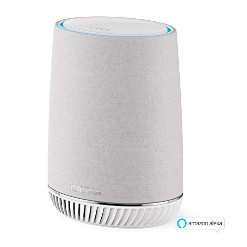 Netgear Orbi RBS40V-100EUS Voice Mesh WLAN Smart Lautsprecher (Erweiterung um 125 m² Abdeckung, integrierte Amazon Alexa, Repeater für Orbi Mesh-WiFi-Systeme, Smart Home Speaker, Harman/Kardon Audio)