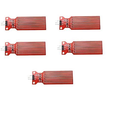 WINGONEER 5PCS Wasserstandsensor Flüssigwasser Tröpfchen Tiefenerkennungssensor für Arduino