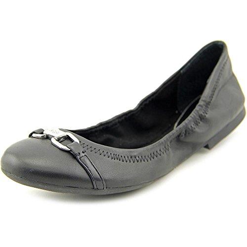 Lauren Ralph Lauren Betsy Femmes Cuir Chaussure Plate Black