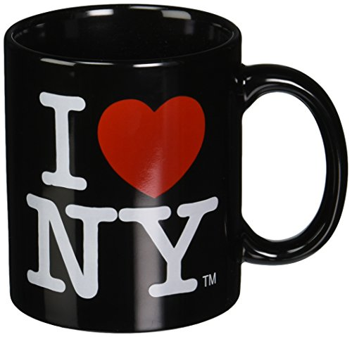 I Love NY Black Becher/Tasse aus Keramik Motiv: I Love New York Logo, NYC-Becher, offizielles Produkt - Nyc-kaffee-tasse