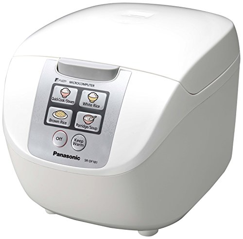Panasonic sr-df181wxb–Reiskocher/Dampfgarer, Fassungsvermögen 1.8l, 6Modi, 750W, Weiß