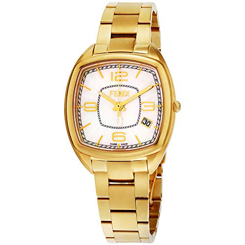 Fendi Momento Mother of Pearl Dial Stainless Steel Ladies Watch F221434500