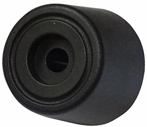 Aerzetix - 4 x piedini neri PE H: 15mm Ø20 mm in gomma per mobili fissaggio rapido .