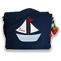 Kindergartentasche & Kindergartenrucksack in einem: Boot / Schiff für Jungen (mit Namen)