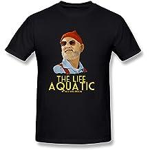 Gerlernt Men's The Life Aquatic With Steve Zissou Billy Murray T-Shirt