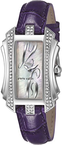 Pierre Cardin Tresor Women's Quartz Watch with Mother Of Pearl Dial Analogue Display and Purple Leather Strap PC106022F03