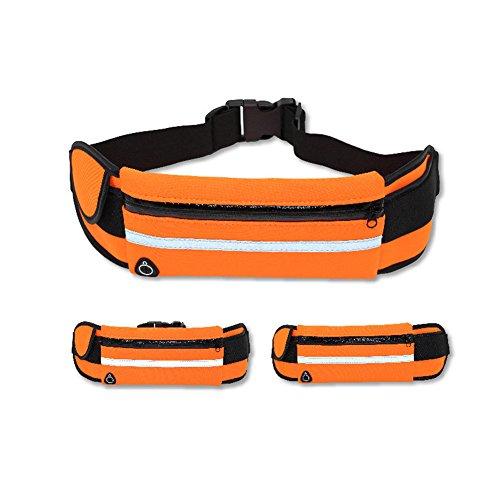 Reefa Laufband Gürtel Taille Pack Multifunktionale wasserdichte unsichtbare Taschen verstellbare Lauftasche für alle Arten von Handys Lila