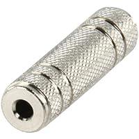 Valueline AC-047 adaptador de cable - Adaptador para cable (3.5mm, 3.5mm, Metálico, Hembra/hembra, Níquel, Metal)