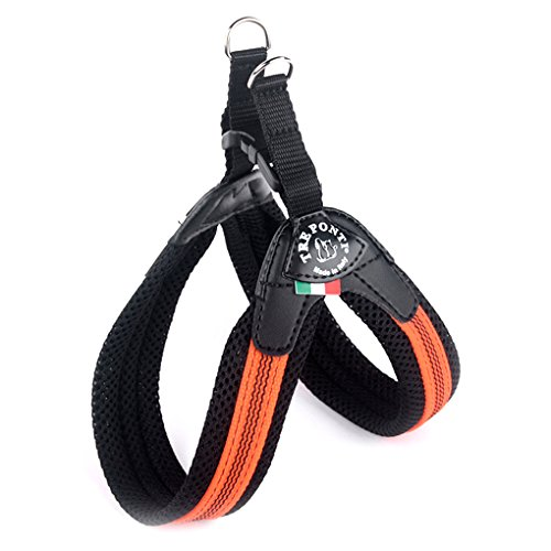 Tre Ponti Easy Fit Soft Mesh Fluo POP orange mit Click-Verschluss 42 - 47 cm bis ca 7kg